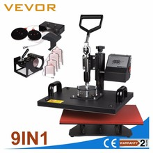 9 in 1 Digital Heat Press Machine Multifunctional Transfer Sublimation for T-shirt Mug Ceramic Plate Cap printing machine