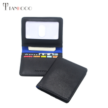 TH Brand Business Genuine Leather Credit/ID Card Holder BY001