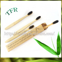 Private label biodegradable wholesale bamboo mini round head toothbrush