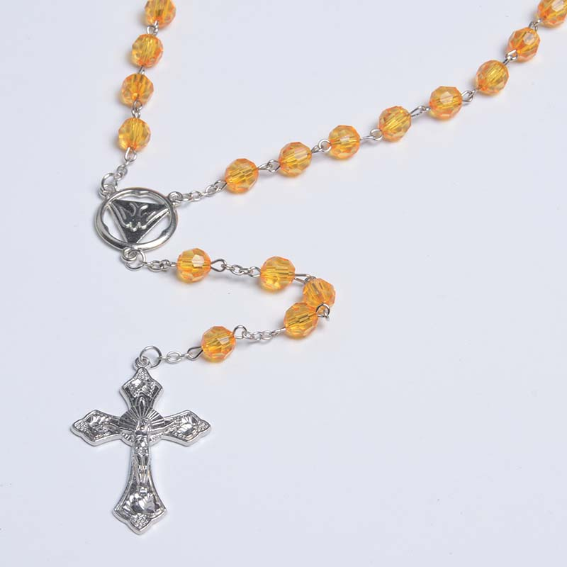 Clear Faceted Beaded Necklace Rosariy Plastic Rosaries Hotselling Catholic Chaplet Rosary YIWU Factory