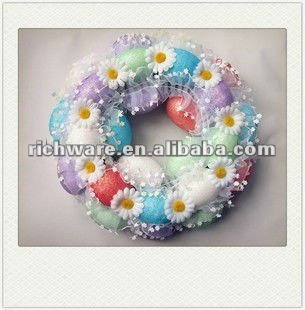 colorful polyfoam easter eggs wreath