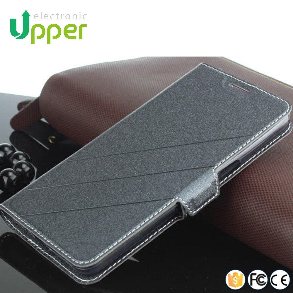 Wholesale with card holder PU smart cover custom phone back flip leather case for xiaomi mi4i mi 4i mi4