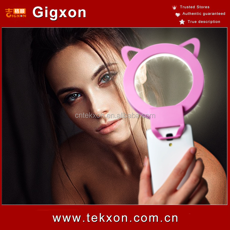 Mobile Phone Accessories Flash Fill Light Rechargeable Ring Selfie Light Up Cell Phone Cases