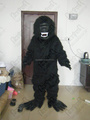 hand make quality long fur black monkey masoct costumes