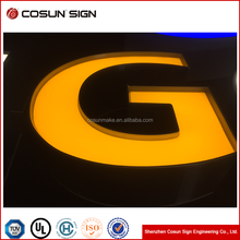 Trim cap 3D Acrylic luminous LED letter sign