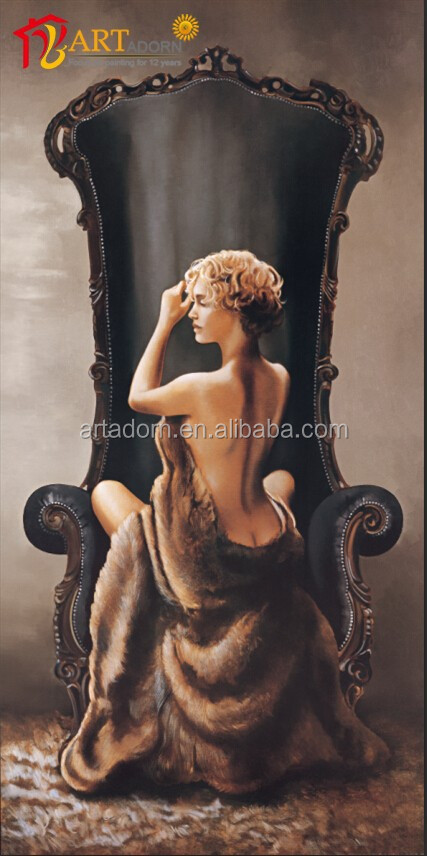 Wall decoration beautiful woman back nude oil painting canvas