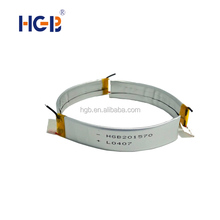 High quality HGB201570 3.7V 140mAh 3C lithium polymer rechargeable curved battery for smart-watch/bluetooth/medical devices