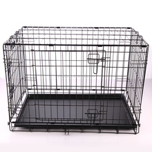 Deluxe Dog Puppy Pet Cage Carrier Crate In black