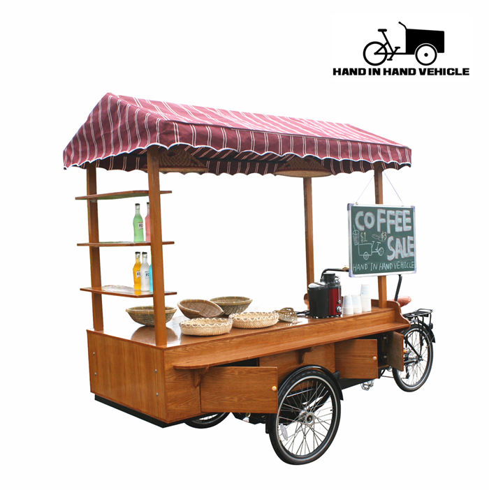 retro mobile food cart/mobile coffee cart/coffee bike