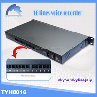 16 line phone recorder box/telephone recorder/electronic voice box