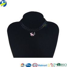 FJ brand hot sale fashion new design custom plastic handmade necklace