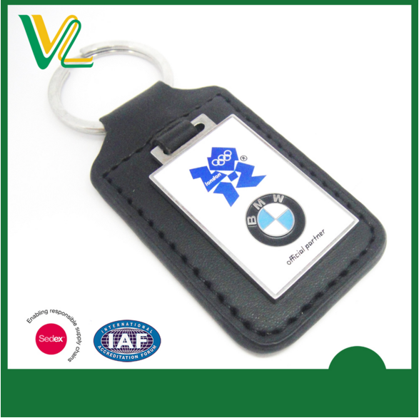 BMW car logo key chain custom leather keychain