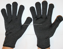 Aramid anti cutting resistant gloves,stainless steel safety cut gloves