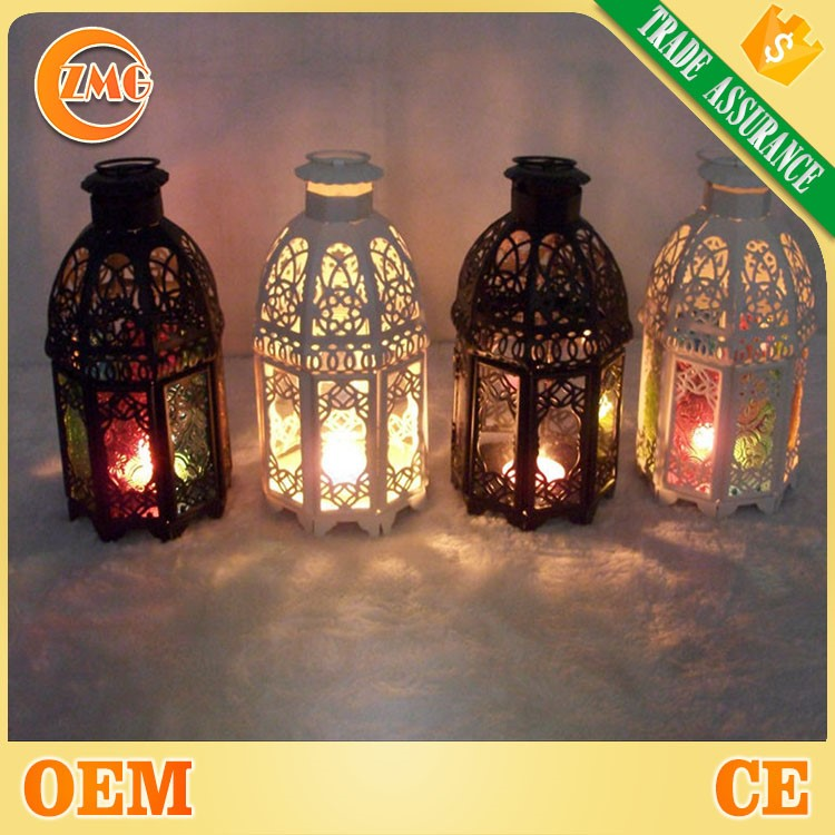 Hot sale Morocco style metal hanging Hurricane Lantern for wedding favor