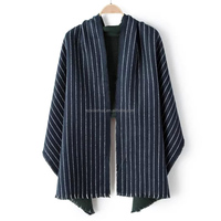 Fashion new design stripe acrylic pashmina shawl