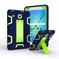 Contrast color With stand 3in1 TPU + PC hard Strong Combo back shell Shockproof Case for Samsung galaxy tab E 8.0 T377 Cover