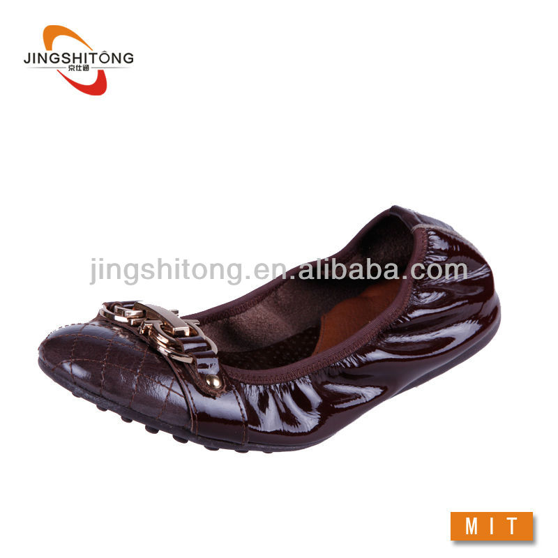 Copper Leather dancing shoe for women non-slip soles