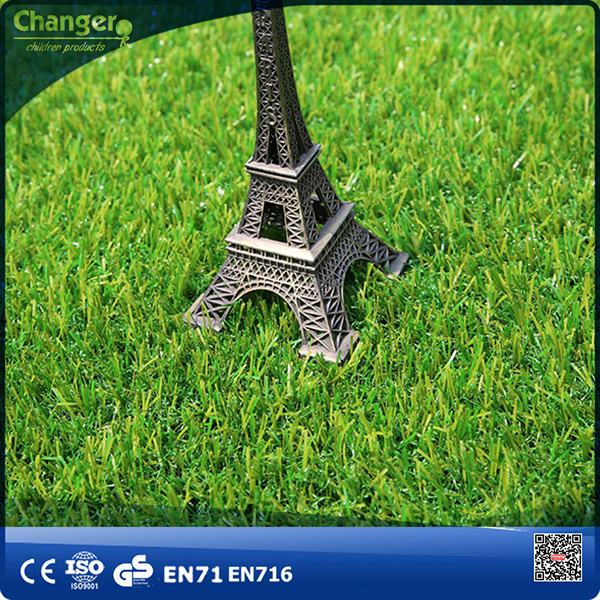 Machine kids & pet friendly decorative fake artificial grass and plastic carpet for garden children playground and school