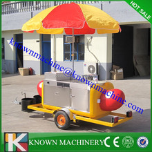 Stainless Steel Mobile Hot Dog Cart for caterers,hot dog vending cart
