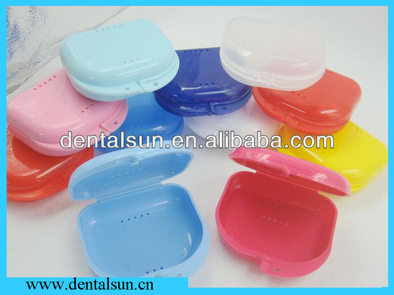 Dental box/teeth retainer case with Holes