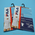 Customized printed PP cloth packaging plastic hanger hook bags with adhesive tape