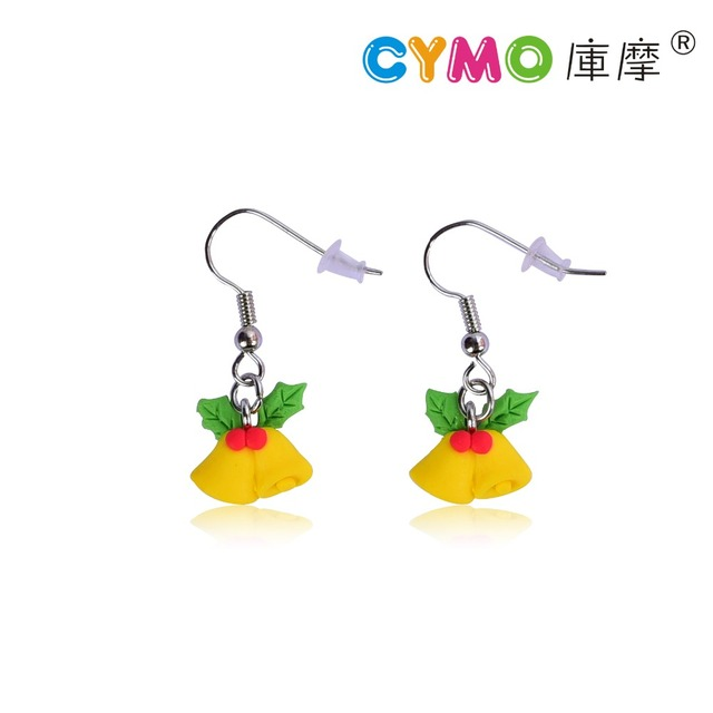 2017 hot selling simple simulation cute cartoon girl kid christmas gift jewelry earring