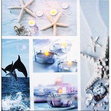 CE Ceritificated fashion beautiful modern sea scenery lighted candle canvas wall art paintings factory cheap wholesale