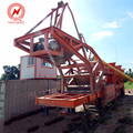 Professional customized 20T small mobile concrete batching mixing plants