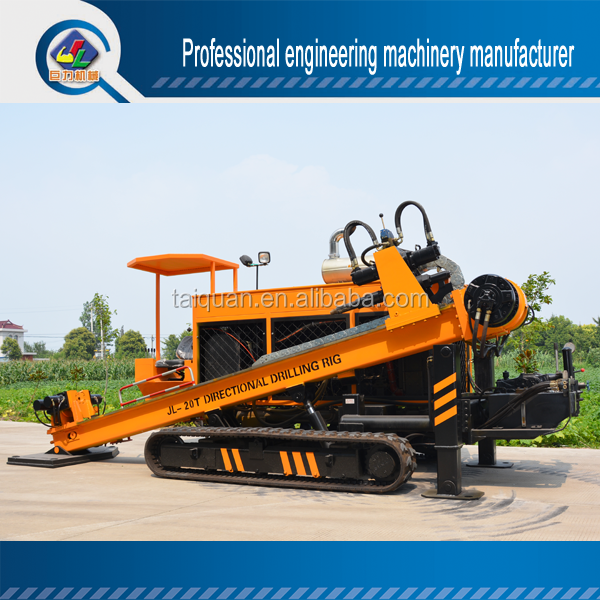 China cheap price 20T underground HDD horizontal directional drilling machine for sale, trenchless pipe laying machine