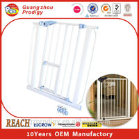 White Easy Step Walk Thru Gate, no damage to the wall baby pet dog gate