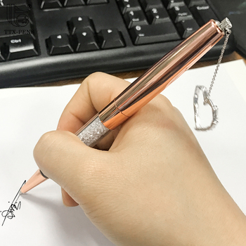 Bronze diamond ball pen for gift,crystal filled pens