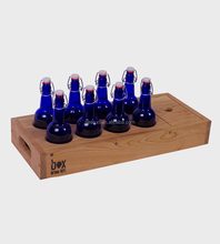 home brew beer bottle kit holder wooden brew caddy