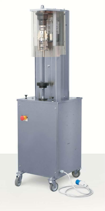 Semiautomatic capper for aluminium screw caps