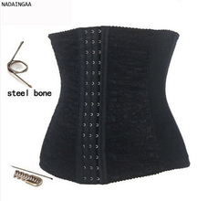 Wholesale nine steel bone latex corset waist trainers in big stock