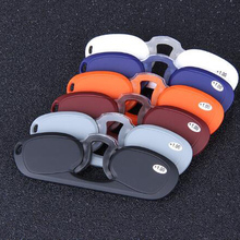 New pocket clip reading glasses mini reading glasses with silicone nose