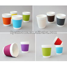 Coffee Cup Sleeves with logo, Colorful Silicone Coffe Cup Sleeves