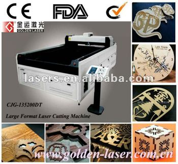 Laser machine to cut balsa wood for model panels