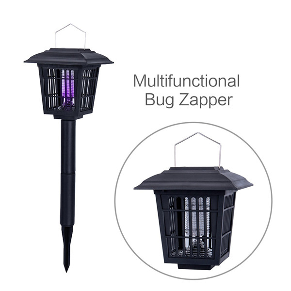 Solar Powered Outdoor Insect Killer / Bug Zapper / UV Mosquito Killer Garden Light