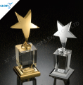 the unique award metal star with crystal base trophy for events