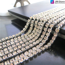 Sewing Rhinestone Strass Trim Banding SS16 Crystal Rhinestone Cup Chain Wholesale