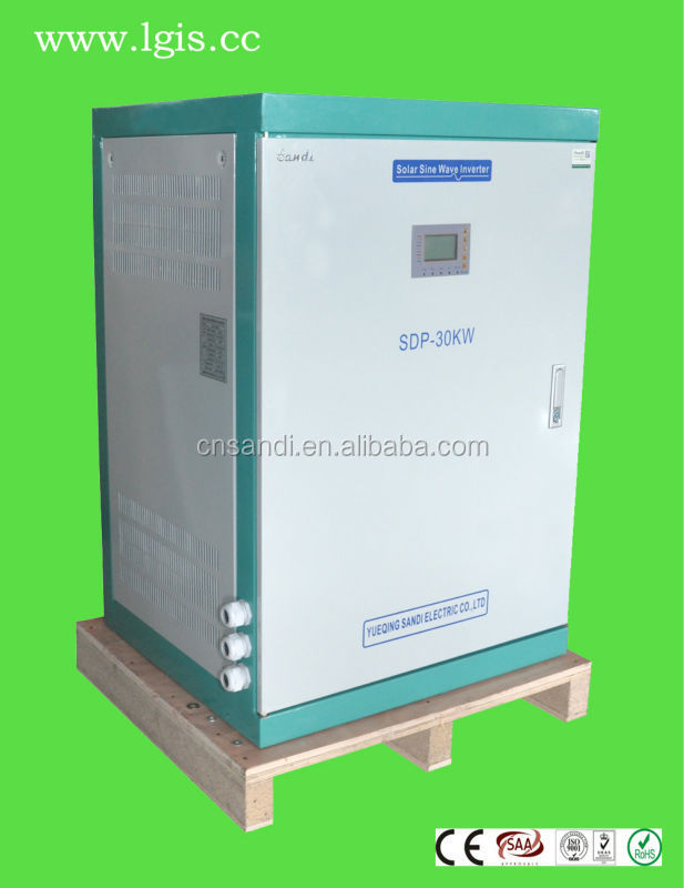 30KW off grid solar power system with variable frequency start for industrial/commercial use