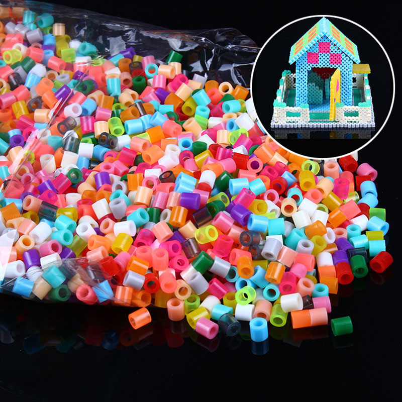 Kids educational perler beads toys diy wholesale 5mm midi beads