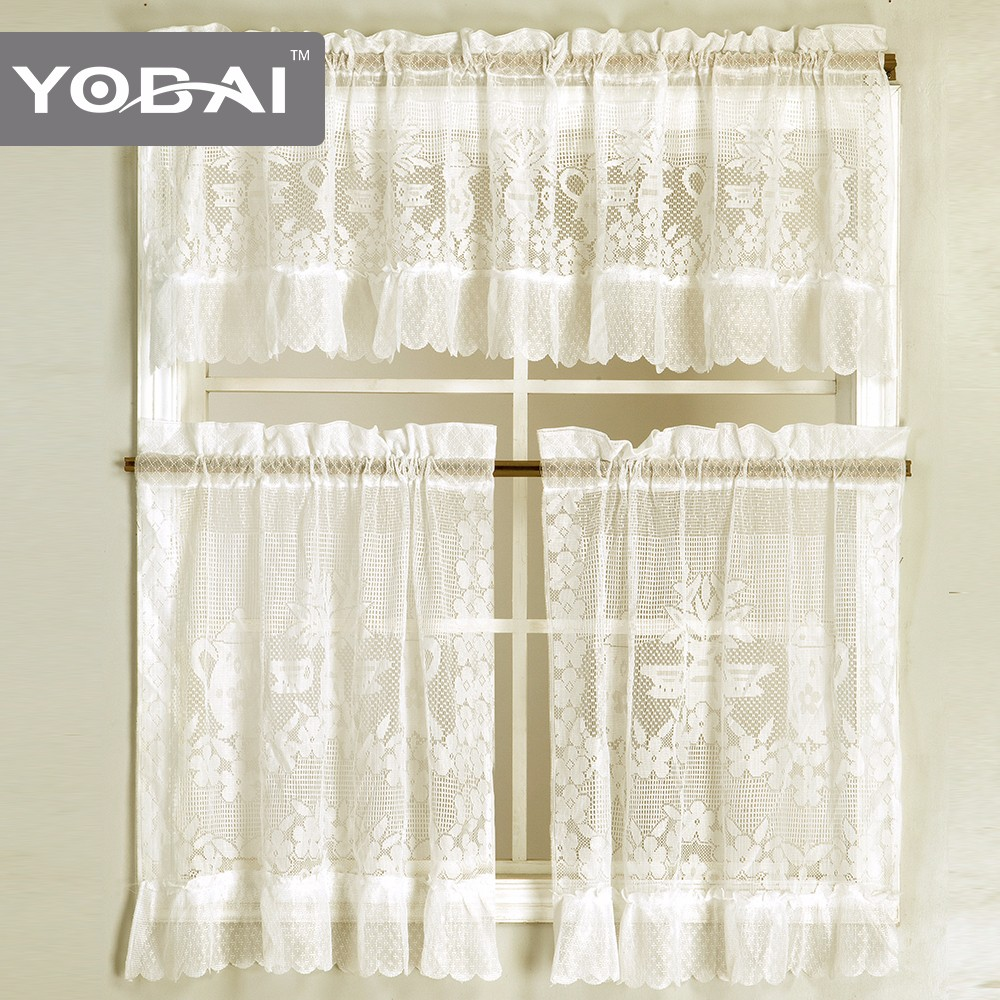 A New Style German Ethnic Latest Kitchen Curtain Lace Cloth Design