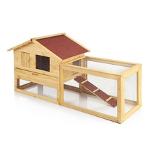 Wholesale New style outdoor Wooden bunny hutch/ rabbit house with large run
