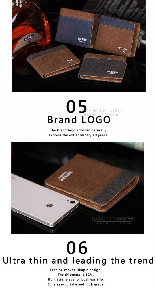 RFID blocking leather men's wallet PU Leather original Yateer brand wallet