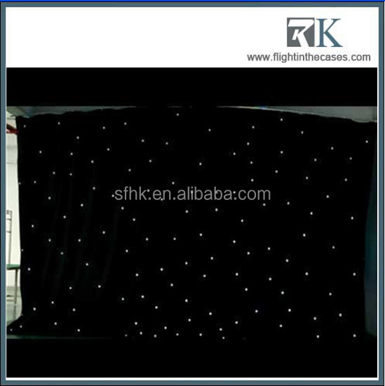 Nightclub DMX LED Star Curtain Rock Music Stage LED Video Curtain 6*4m