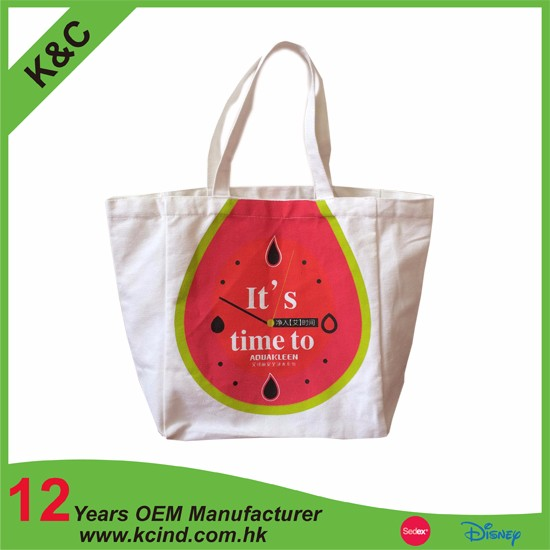 Wholesale fashion ladies Reusable factory high quality customized logo print guangzhou cotton Trolley Shopping bag