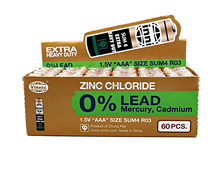 R03/sum4/aaa battery 0% Lead Zinc Chloride Dry Battery