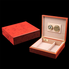 Red Wooden Cigar and Accessories Box Kits