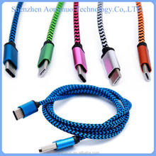 2015 wholesale colorful micro usb cable for type c adapter double micro usb data cable for macbook /nokia